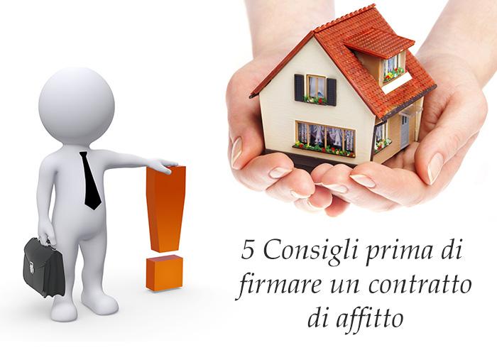Contratto di affitto: 5 consigli da seguire prima di firmare